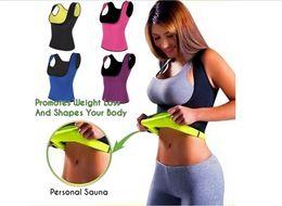 Wholesale Weight Vests - Wholesale- Sexy Neoprene Sauna Super Stretch Waist Trainer Vest Summer Body Fitness Shaperwear Lose Weight Slimming Shaper Tops
