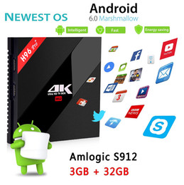 h96 pro 4k android tv Promo Codes - H96 Pro plus Android TV Boxes Octa Core tv box Amlogic S912 4k ultra smart tv media player 3gb ram 32gb rom dual band wifi BT4.0