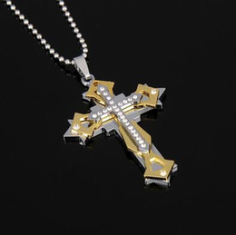 Wholesale Large Snake - New Designs Fashion Men jewelry christian cross pendant 316L stainless steel metal large cross High Quality
