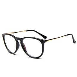 Marcos de gafas unisex de metal redondo online-Venta al por mayor- Outeye anteojos vintage Unisex hombres mujeres lentes de lentes transparentes Marco de metal redondo Gafas de titanio Nerd gafas ópticas