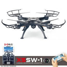 Wholesale Toy Rotor - Drones X5SW X5SW-1 WIFI RC Drone Quadcopter with FPV Camera HD Dron Headless 6-Axis Real Time RC Helicopter Quad copter Kid Toys