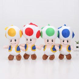 Wholesale Super Mario Toad Plush - 18cm Super Mario Brothers Toad Mushroom plush toy Stuffed soft doll pendant keychain kids toys children gift