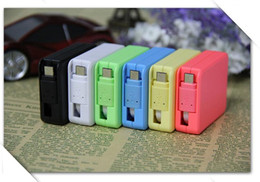 Wholesale Square Usb Color - 1M 3FT Candy Color Square Shape Retractable Micro USB Charger Cable Data Sync Charging Cord Extention Lead For universal smartphone android