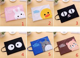 Wholesale Document Storage A4 Bag - Cartoon Oxford A4 Document Bag Storage Carpetas Archivadora File Folder Business Briefcase for Papers Stationery Student Gift