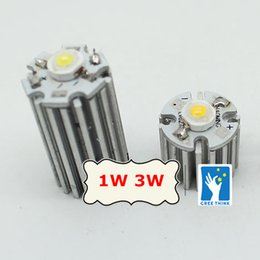 Wholesale 1w Leds Red - Wholesale- 50pcs Aluminum heatsink 20x20mm for 1w LEDs cold white warm white red blue green yellow led high power radiator, COOLER.