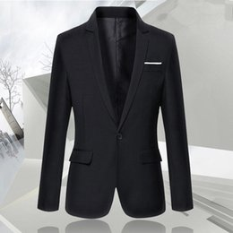 Wholesale College Promotions - Wholesale- Promotion 1 Piece Black Double Vented Slim Wedding Groomsman College Student Graduate Formal Business Men Suit Jacket Blazer