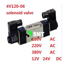Wholesale High Quality Solenoid Valve - High Quality 1 8'' DC 24V Double Postion 5 Way Air Solenoid Valve 4V120-06 Dual Coils