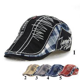 Wholesale Summer Beach Hats For Women - New Unisex Plaid Beret Hats for Men or Women Visor Berets Cap