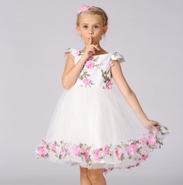 Wholesale Slips Movies - Euro-American style Princess slip dress girl skirt grown wedding dress floral desin high quality