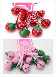 handys rosa farbe Rabatt Neues Design! 50pcs rot / rosa Frucht Strawberry Bell Mobile Handy Charm Strap 0,6 Zoll. Kann Farbe wählen
