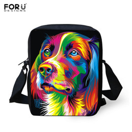 Wholesale Wholesale Pewter Crosses - Wholesale- Casual Women Messenger Bags Painting Dog Crossbody Bags for Girls High Quality Children Shoulder Bag Student Kids Messenger Bag