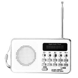2019 pilas bl 5c Venta al por mayor-L - 938 Multifuncional Radio FM portátil Reproductor de MP3 con soporte TF / SD Tarjeta Entrada de audio USB con batería recargable de litio BL-5C pilas bl 5c baratos