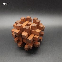 Wholesale Vintage Wooden Puzzles - Vintage Wooden Kong Ming Lock Toy Puzzle Cage Brain Teaser Intellectual Game Christmas Gift Teaching Aids Educational Toy