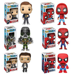 Wholesale Spider Man Head - 2017 Popular 10cm Vinyl Bobble Head Spider Man Movie Homecoling Action Fugures Toy, EMS free shipping
