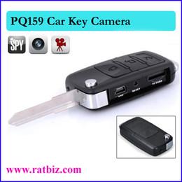 Wholesale Key Chain Video Camera Hd - Free shipping + Car Key Hidden camera spy camera Mini Camera DVR Key Chain HD Camcorder Video Recorder DV PQ159