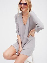 Wholesale Big Pit - The new pit knitting together big bag long long-sleeved dress