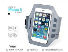 Wholesale Bags For Camping - 2017 AAA Newest Running Outdoor Bags Exercise Armband for for iPhone 6S, 5, 5S, 5C Men Women Touchscreen Compatible Clear Cover Brand WINMAX
