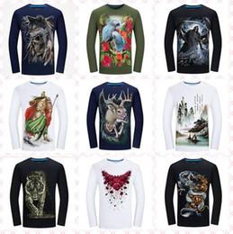 2019 vikings t-shirt DHL gratuit prix de gros S ~ 6XL Helloween citrouille Vikings 3D graphique col Funny animal pirate Hommes tee polos hommes à manches longues t chemises vikings t-shirt pas cher