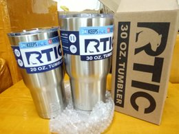 Wholesale Double Wall Beer - 2017 DHL RTIC Tumbler 30 oz 20oz RTIC Cups Cars Beer Mug Large Capacity Mug With Vacuum Double Wall Keep Cool or Hot