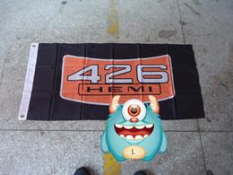 Wholesale File Car - 426 hemi flag for Car show , can custom print file,90X150CM size,100% 426 hemi banner 100% polyester