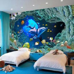 2019 papéis de parede subaquáticos Personalizado mural papel de parede subaquático mundo 3d foto papel de parede para o quarto sala de estar sofá tv fundo mural papel de parede mural papel de parede papéis de parede subaquáticos barato