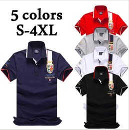 Wholesale Mens Wholesale Polo Shirts - Plus Size S-4XL Brand New Men's Polo Shirt Men Cotton Short Sleeve shirt Brands jerseys Mens Shirts polo shirts