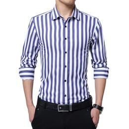 abe0680f4b8 Wholesale- 2017 Spring Mens Slim Fit Stripes Pattern Shirts Business Shirt  Work Wear Casual Dress Shirt Long Sleeve Shirts Soft Top YN10043