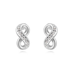 Wholesale Make Rhinestone Jewelry - top quality famous brands jewelry wholesale for women infinity stud earrings made with Swarovski elements crystal best Mother's Day gift