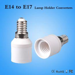 Wholesale E17 E14 Adapter - hot sale LED lamp holder E14 to E17 Adapter Converter lamp adapter E17-E14 converter shrinkable tube New