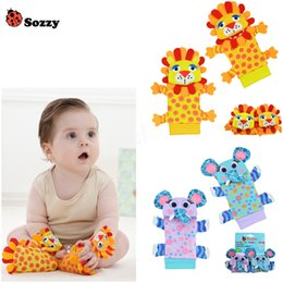 Wholesale Gardening Set Toy - Wholesale- Newest 4pcs lot (4pcs=2 pcs waist+2 pcs socks) lot,baby rattle toys Sozzy Garden Bug Wrist Rattle and Foot Socks