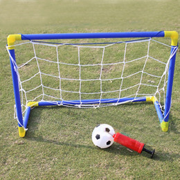 Wholesale Funny Football Soccer - Wholesale- Mini Football Goal Outdoor Toys For Kids Parent-child Interaction Soccer Sport Games Portable Removable Funny Toys For Children