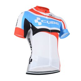 Wholesale Cube Cycle Shorts - Felt new Summer Man CUBE team Cycling Jerseys bike Short Sleeves Ropa Ciclismo Breathable Quick-Dry Sportswear Bicycle jerseys A188