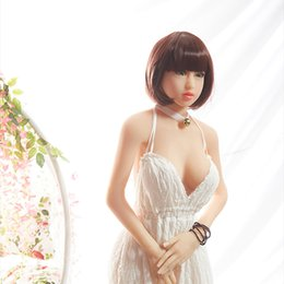 Wholesale Mini Sex Doll Anime - Real Silicone 150cm Leslie Adult Sex Dolls Oral Anal Vagina Japanese Skeleton Mini Lifelike Anime Oral Love Dolls For Men