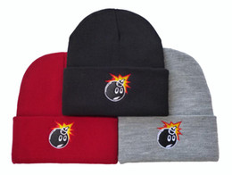 Wholesale Door Letters - 3 Colors 2016 Hot Sale New Arrival Unisex Autumn & Winter The Hundreds Bomb Beanies Hip-hop Out Door Woolen Knitted Elastic Hat