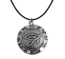 Wholesale Evil Eye Amulets - New arrival Viking tunes evil eye pendant necklace supernatural talisman amulet for man wicca jewelry free shipping