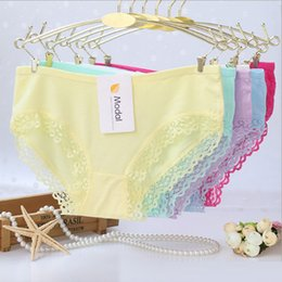 Wholesale Lace Lingerie Sale - 120pcs lot Wholesale Hot Sale Sexy Seamless Modal Panties For Women Underwear Solid Lace Panty Lingerie Soft Calcinha Ladies Briefs