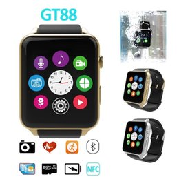 Wholesale Gps Tracker A9 - Waterproof 2502c Smart Watch GT88 Bluetooth SIM V4.0 Camera NFC Heart Rate Monitor support iphone android pk a9 DM360 smartwatch