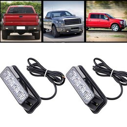 Wholesale 12v Led Mini Strobe Light - red blue amber white 4 color 12 flashing mode Waterproof Automobiles Indicators External mini 12v led Warning Light for truck