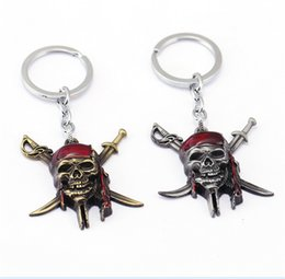 Wholesale Men Gift Product - Pirates of the Caribbean Key Chain Keychain Key Rings Holder Souvenir For Gift Men Jewelry New Product