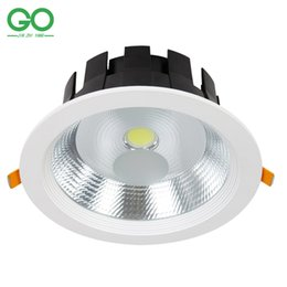 Wholesale glass ceiling lighting - LED Ceiling Downlight 7W 9W 12W 15W 20W 30W Recessed Spot Light 110V 120V 220V 230V 240V Decoration Wall Down Lights
