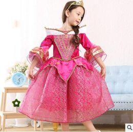 Wholesale Vintage Style Children Clothing - Retro Princess Halloween Party Evening Costume Children Cosplay Dress Party Dresses Girl Princess Vintage Dress Kids Clothes Girls Dresses