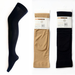 Wholesale Ladies Knee High Nylons - Wholesale-Ladies Womens Fashion 80D OPAQUE Velvet Black Over Knee High Sexy Nylon Stockings for Women 2 colors
