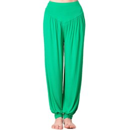 Wholesale Dance Yoga Wear - Colorful Plus fours pants Dance pantalettes Women gym bloomers clothing Yoga sport wear Fitness knickerbockers sportwear Exercise trousers