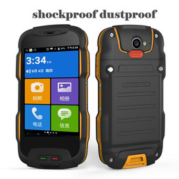 Wholesale Android Phones 4inch - Original OINOM V9T Waterproof Phone MTK6753 QuadCore 4Inch Smartphone 2GB RAM 16GB ROM Android 5.1 4G Ite IP68 Waterproof Mobilephone Newest