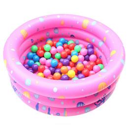 Wholesale Soft Bathtub - Wholesale- New Baby kids Circular Thicken Swimming Pool Summer Children Inflatable Bathtub Foldable Bath Pool Portable Soft Shower Basin