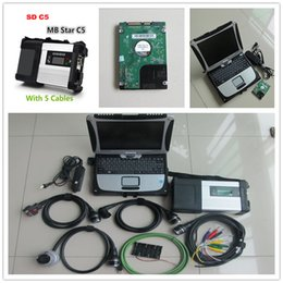 Wholesale Laptop Batteries Tester - 2017.07 MB STAR Compact 5 MB star SD C5 with CF19 CF-19 touch Laptop for MB car truck Diagnostic Scanner