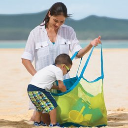 Wholesale Children Toy Storage - Baby Children Beach Mesh Bag Children Beach Toys Clothes Towel Bag Collection Nappy Mommy Storage Bag Free Shipping 2109099