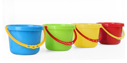 Wholesale Wholesale Sand Buckets - Kindergarten Chilren water bucket toy beach pail for baby Food grade PP toldders sand paly &water fun mini pail wholesale Top quality LLFA
