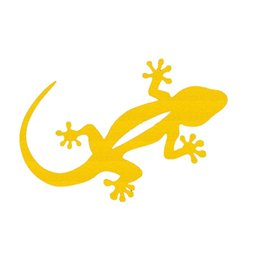 Wholesale Fast Car Stickers - Wholesale 10pcs lot Hardy Fast-moving Reptile Gecko Car Sticker for Window Bumper MotorcyclesDoor Laptop Car Styling Reflective Vinyl Decal