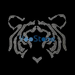 Wholesale Appliques Hotfix - Sale Applique Strass Head Tiger Iron On Rhinestone Transfer Hotfix Motif For Garments